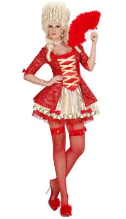 rød barok dronning barok kostume til kvinder rødt kostume historisk kostume til voksne