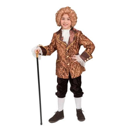 barok børnekostume barok kostume til dreng renaissance kostume til barn 1700 tallet børnekostume guld kostume dreng