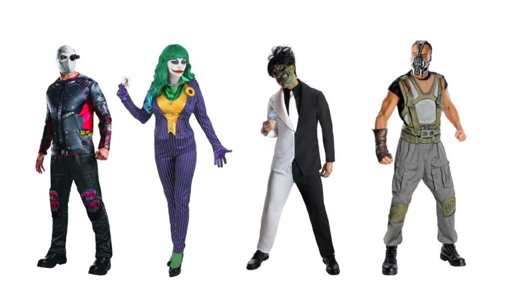 batman skurke kostume til voksne jokeren kostume twoface kostume bane kostume