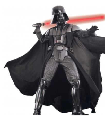 darth vader luksus kostume 408x450 - Darth Vader kostume til voksne
