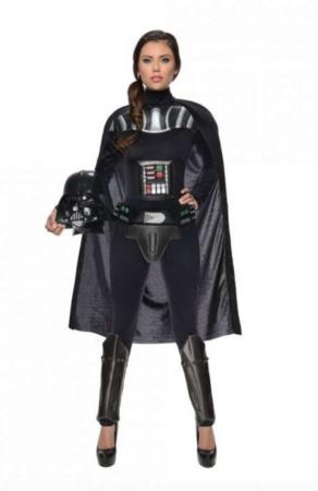 feminint darth vader kostume 292x450 - Darth Vader kostume til voksne