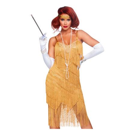 guld charleston kjole 450x450 - Charleston kostume til voksne