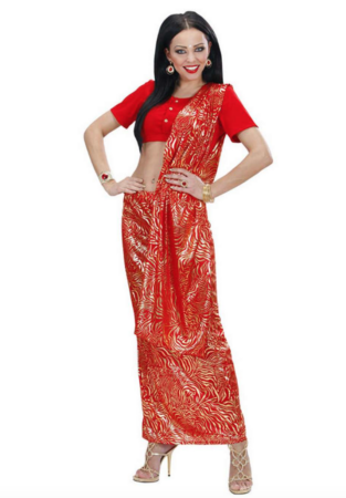 indisk sari kostume 313x450 - Bollywood kostume til voksne