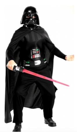 star wars darth vader voksenkostume 265x450 - Darth Vader kostume til voksne