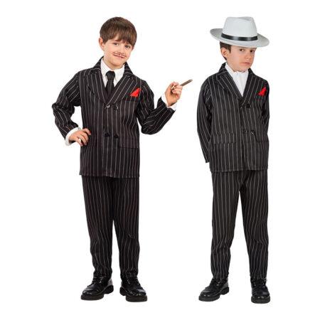stribet gangster børnekostume 450x450 - Gangster kostume til børn