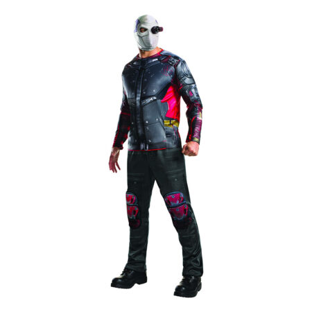 suicide squad deadshot kostume til voksne batman skurk kostume til voksne