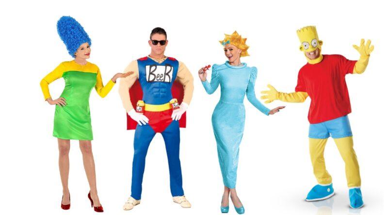 the simpsons ksotume til voksne 90er fest kostume til voksne festival udklædning 90er tema