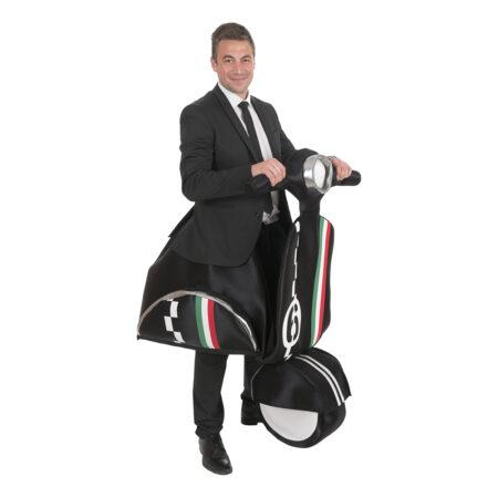 knallert kostume sidste skoledag udklædning til drenge trafik kostume