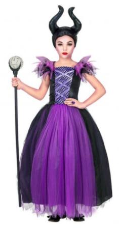 maleficent børnekostume maleficent sidste skoledag udklædning lilla disney udklædning ondt disney kostume skurk kostume til børn
