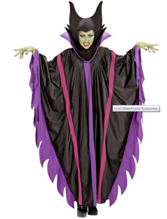 ond maleficent kostume til voksne heks kostume til voksne tornerose heks kostume angelina jolie kostume disney kostume