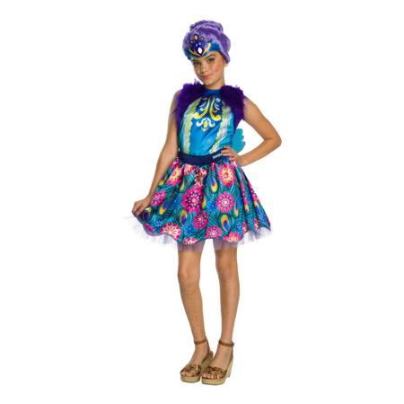 patter peacock børnekostume til piger enchantimal patter peacock udklædning