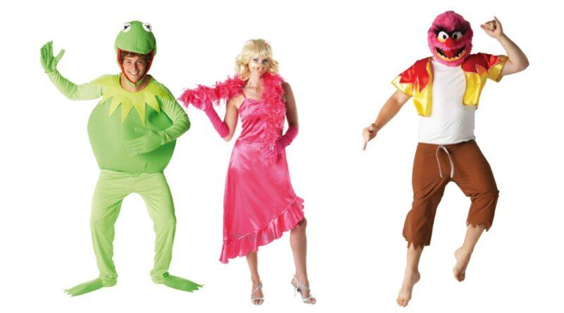 the muppet show kostume til voksne kermit kostume til voksne miss piggy udklædning 80er fest kostume udklædning til sidste skoledag muppet babies fastelavnskostume