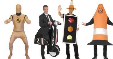 trafik kostume sidste skoledag udklædning trafikkegle kostume crash test dummy kostume scooter kostume knallert kostume