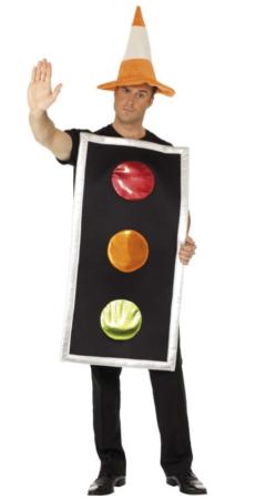 trafiklys kostume til voksne trafik kostume sidste skoledag