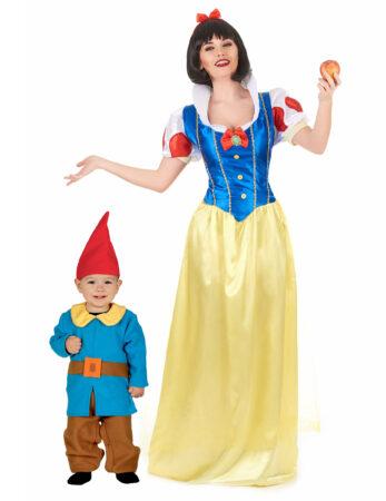 snehvide og dværg ksotume til mor og søn eventyrligt kostume til forældre og barn