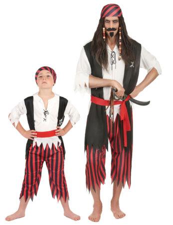 pirat kostume til far og søn fastelavnskotume til far og søn matchende kostume til barn og voksen forældre og barn kostume pirat udklædning