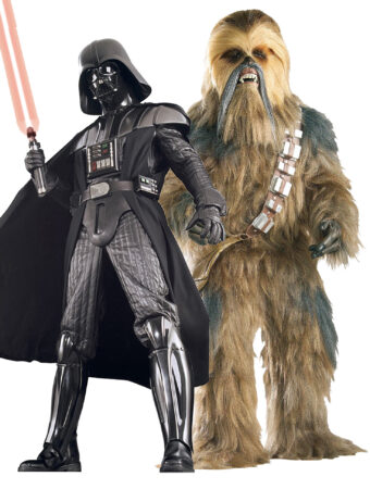 star wars par kostume til voksne parkostume starwars temafest udklædning chewbacca luksus kostume darth vader kostume delux