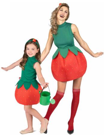 jordbær kostume til mor og datter jordbær kostume til forældre og børn jordbær udklædning mor og datter