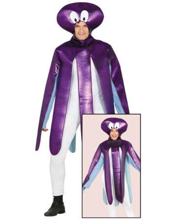 luksus blæksprutte kostume til voksne lilla blæksprutte udklædning til voksne