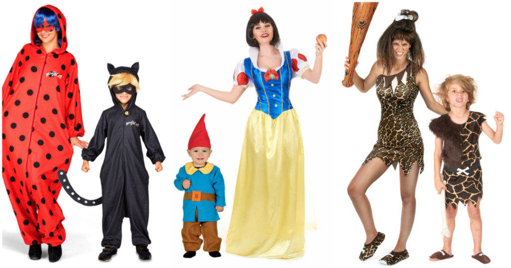 mor og barn fastelavnskostume mor og datter kostume til fastelavn mor og søn kostume til karneval og temefest