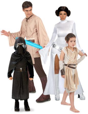 star wars familiekostume udklædning til hele familien star wars temafest kostume til tvillinger