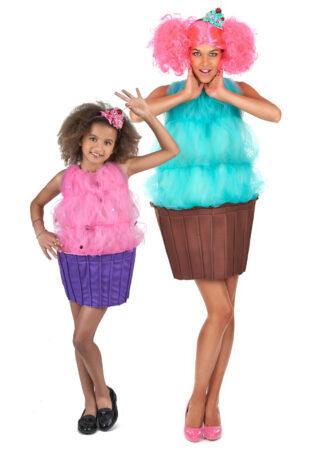 cupcake kostume til mor og datter kage kostume til forældre og barn fastelavnskostume til mor og datter fastelavnskostume til forældre og børn
