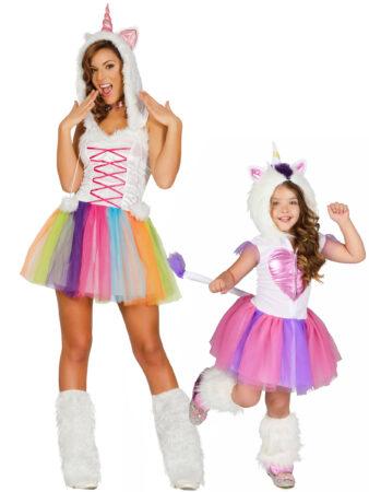 unicorn kostume til mor unicorn kostume til forældre og barn unicorn kostume til mor og datter enhjrning kostume til mor og datter