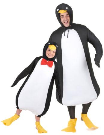pingvin kostume par kostume til far og barn pingvin udklædning forældre og børn