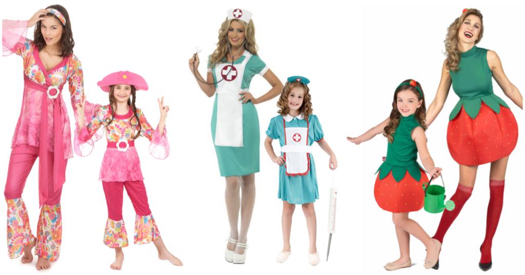 forældre og barn kostume par kostume til mor og datter par kostume til mor og barn historisk kostume til mor og datter pink kostume til mor og barn karnevalskostume til mor og barn