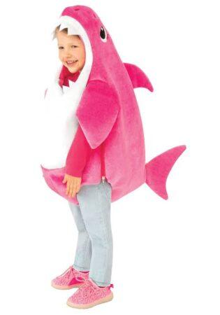 pink baby shark kostume babyshark kostume til baby youtube udklædning til baby
