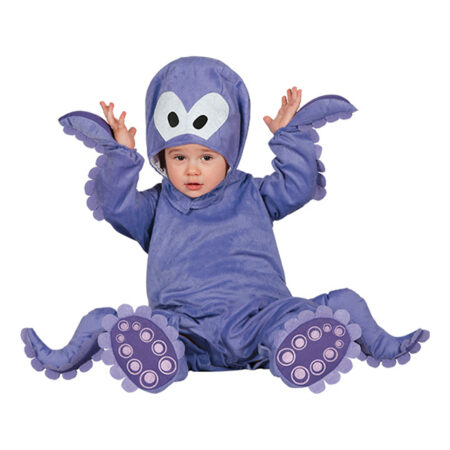 blæksprutte babykostume fastelavnskostume til baby aquarium kostume til baby