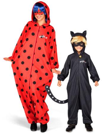 Ladybug og cat noir par kostume til forældre og børn par kostume ladybug cat noir kostume til mor og søn