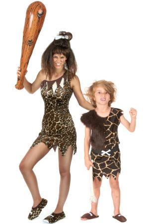huleboer kostume til forældre og børn huleboer kostume til mor og barn stenalder kostume til forældre og barn