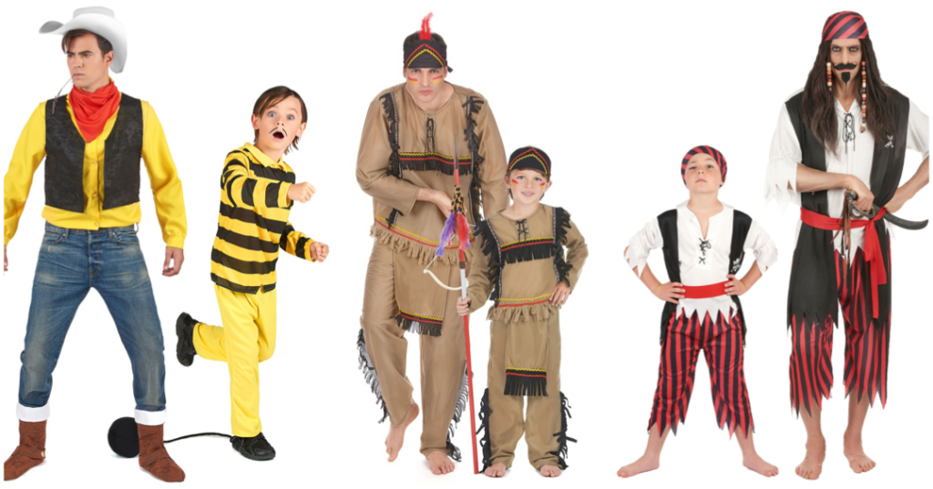 forældre og børn udklædning parkostume til forældre og børn par kostume far og søn