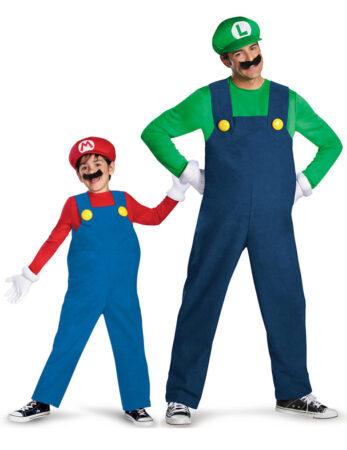 far og barn kostume par kostume til far og søn super mario kostume til far og søn fastelavnskostume til forældre og barn