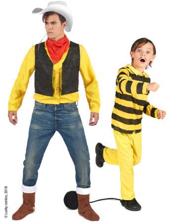 lucky Luke kostume dalton kostume forældre og børn kostume far og søn fastelavnskostume