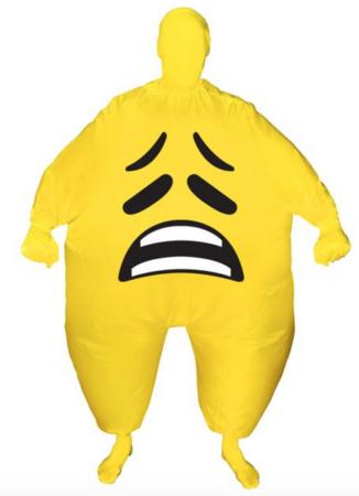 Kostume oppusteligt trist ansigt  326x450 - Oppustelige kostumer til voksne