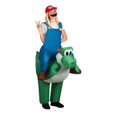 Oppustelig mario kostume 450x450 - Oppustelige kostumer til voksne