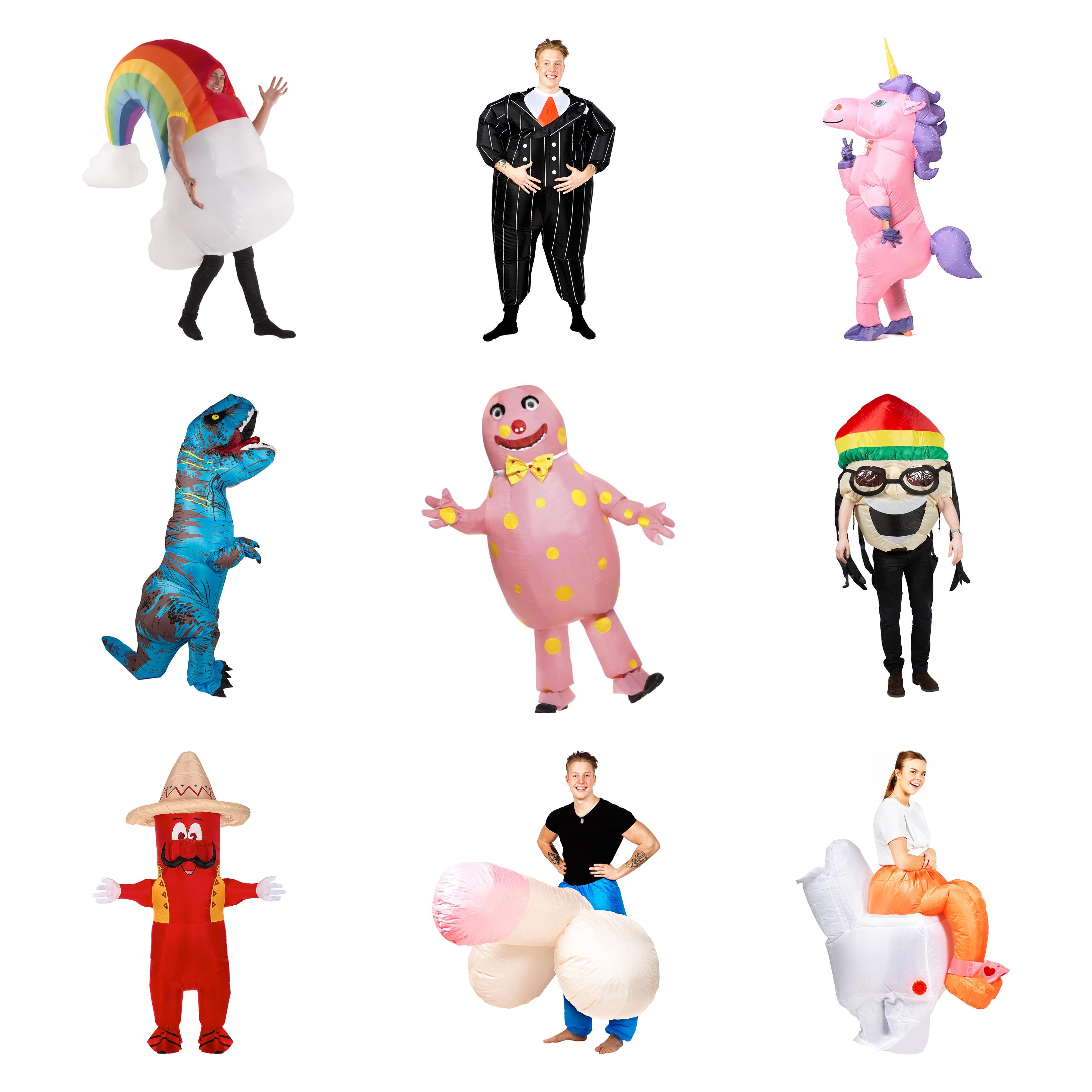 Sjove oppustelige kostumer til voksne - Oppustelige kostumer til voksne