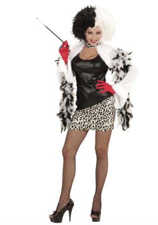 cruella de vil kostume 317x450 - Cruella de vil kostume til voksne