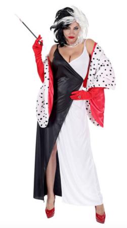 cruella de vil voksenkostume 251x450 - Cruella de vil kostume til voksne