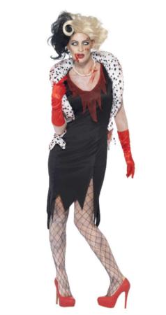 cruella de vil zombie kostume 238x450 - Cruella de vil kostume til voksne