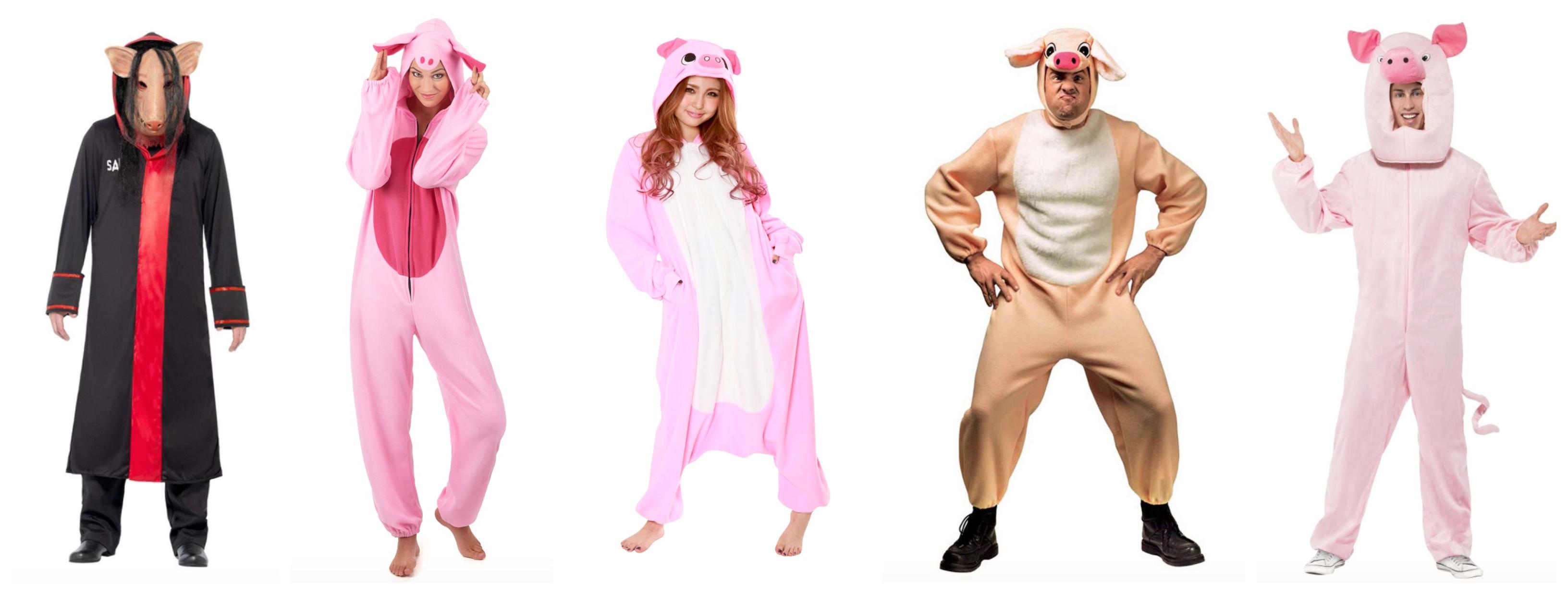 grise kostume til voksne - Gris kostume til voksne
