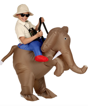 oppustelig elefant børnekostume 375x450 - Oppustelige kostumer til børn