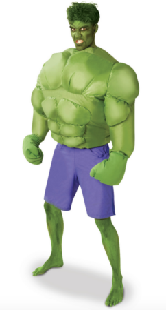 oppustelig hulk kostume 242x450 - Oppustelige kostumer til voksne
