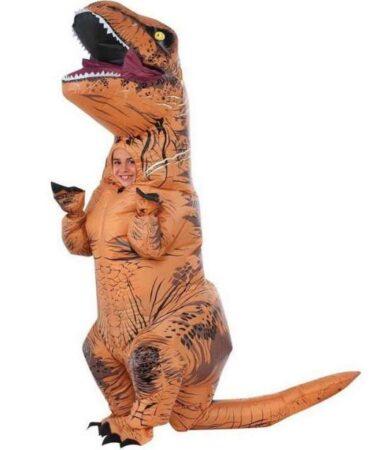 oppustelig t rex børnekostume 389x450 - Oppustelige kostumer til børn