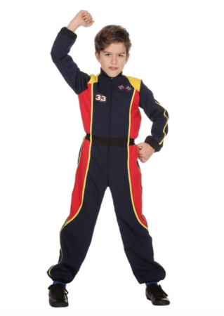 racerkører heldragt 319x450 - Racerkører kostume til børn og baby