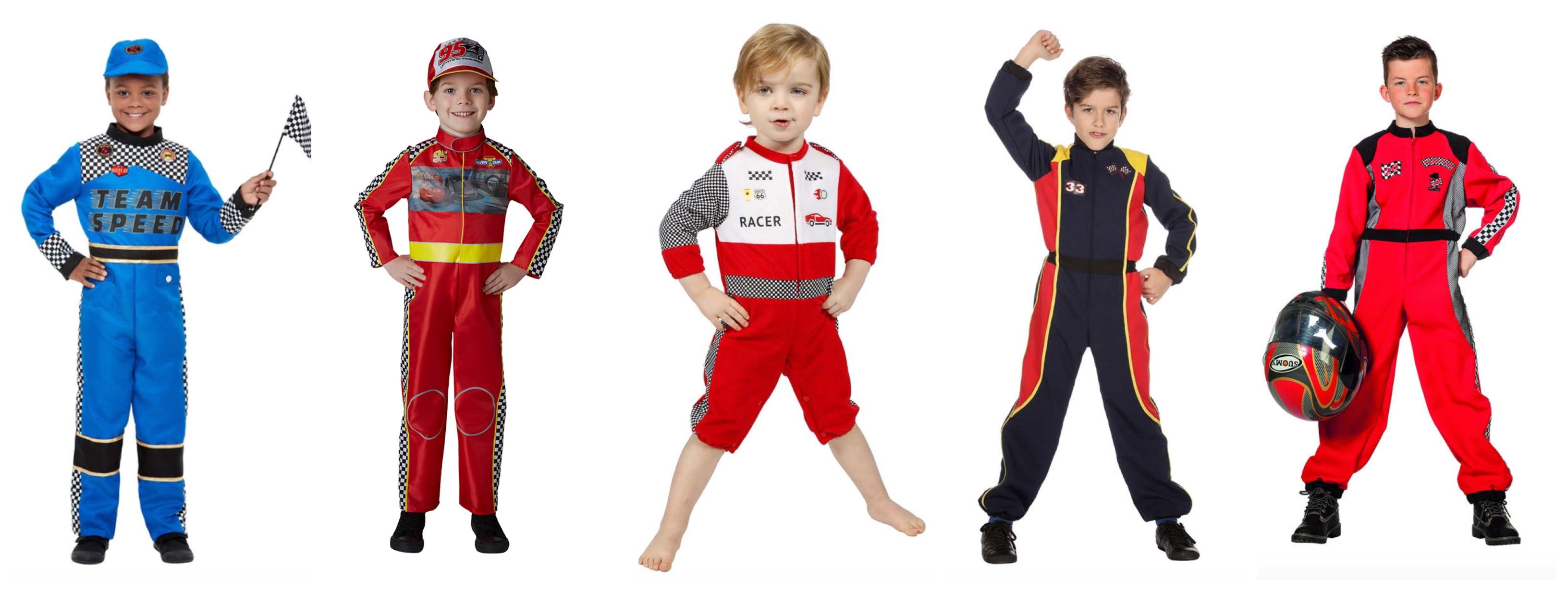 racerkører kostume til børn - Racerkører kostume til børn og baby