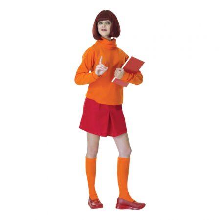scooby-doo-velma kostume scooby doo kostume til kvinder 70er festtema udklædning