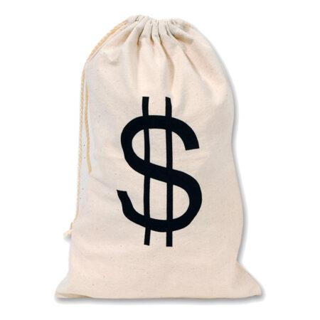 stofpose med dollartegn 450x450 - Tyveknægt kostume til voksne